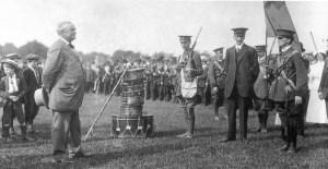John Redmond inspecting the Irish Volunteers, 1914.