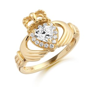 9ct Gold Claddagh Ring-CL28