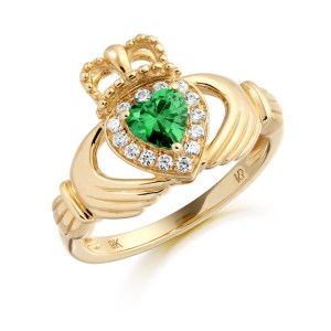 9ct Gold Claddagh Ring-CL28G