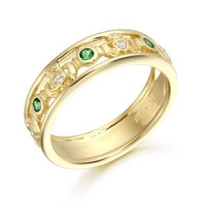 9ct Gold Claddagh Wedding Band-CL30