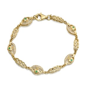 9ct Gold Claddagh Bracelet - CLB35