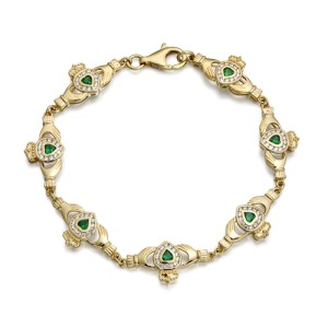 9ct Gold Claddagh Bracelet - CLB38