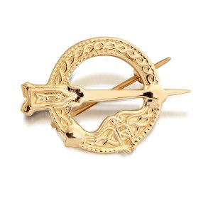 9ct Gold Tara Celtic Brooch - BR31