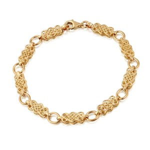 9ct Gold Celtic Bracelet-B01