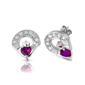Claddagh Earrings-E187AW