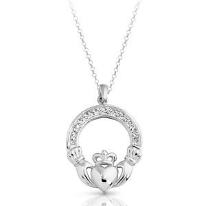 Silver Claddagh Pendant-SP014