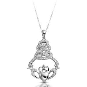 Silver Claddagh Pendant-SP017
