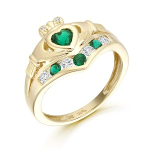 9ct Gold Claddagh Ring-CL29G