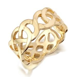 Gold Celtic Wedding Band-1517