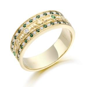 Claddagh Wedding Band-CL17GG