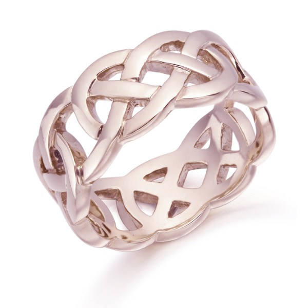 9ct Rose Gold Celtic Wedding Ring - 1519R