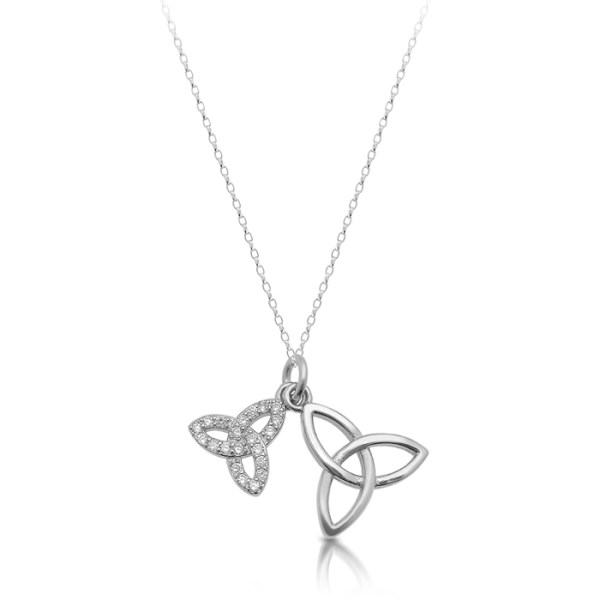 Silver Celtic Charm Pendant in Trinity Knot design-SP82