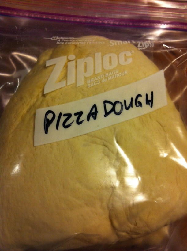 Hey Look! The dough stores nicely for the freezer!