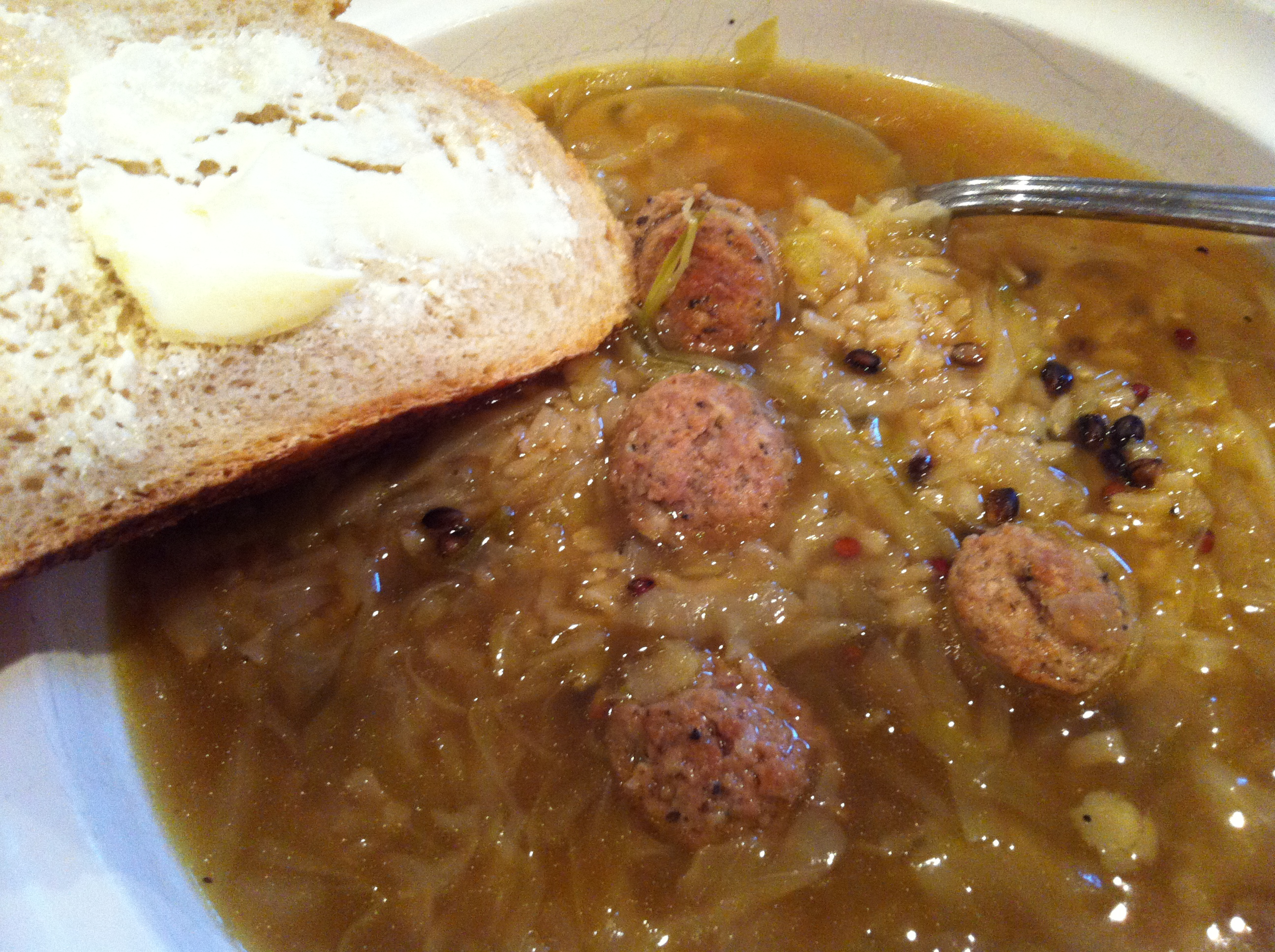 Polish Cabbage and Kielbasa Soup