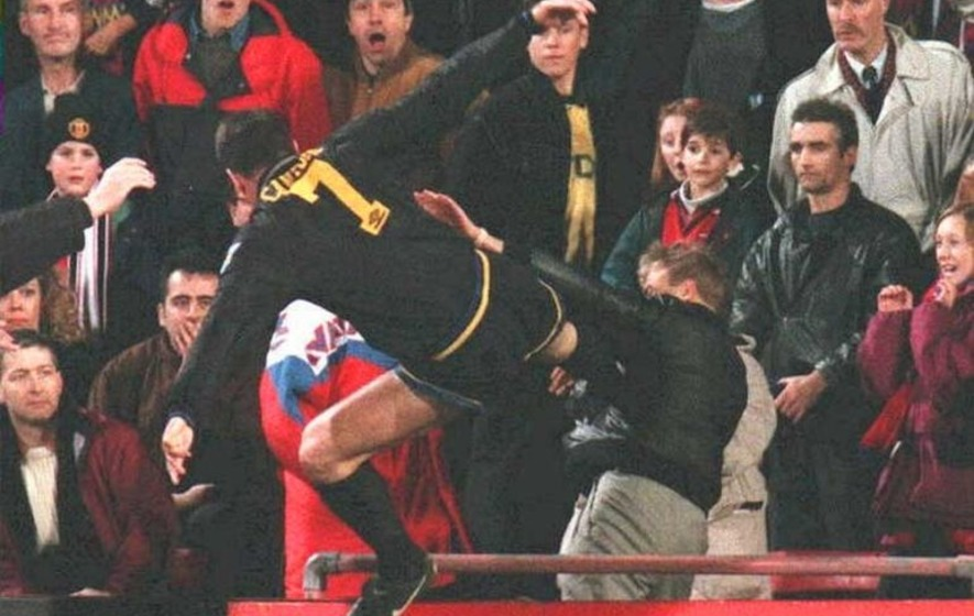 Shop eric cantona famous kung fu kick football soccer player sport star silhouette poster pop art wall sticker removable vinyl decal71x55cm. On This Day Jan 25 1995 Manchester United Striker Eric Cantona Kung Fu Kicked A Fan The Irish News