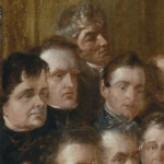 "Detail of ""The Anti-Slavery Society Convention, 1840"" by Benjamin Robert, depicting O'Connell Wikimedia, Public Domain"