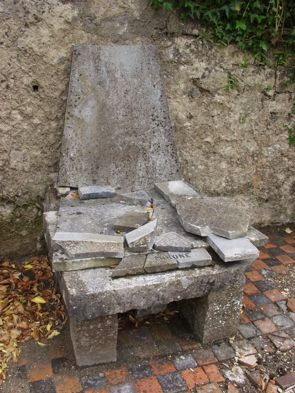 The Episcopal Throne in the ruined Cathedral of Elphin (c) Vox Hiberionacum, with permission