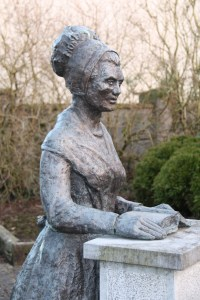 Statue of Mary Leadbeater, Ballitore Image courtesy Gerard Cummingham (@faduda).
