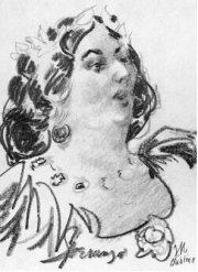 Lady Jane Wilde, attributed to George Morosini Wikimedia, Public Domain