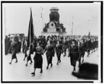 Irish women parading through Dublin in memory of victims of 1916 Easter uprising. 1933. Library of Congress