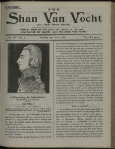 Cover of the Shan Van Vocht, July 1898. UCD Digital Collections