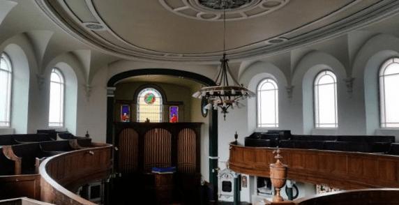 Interior of the First Presbyterian Church, Belfast.