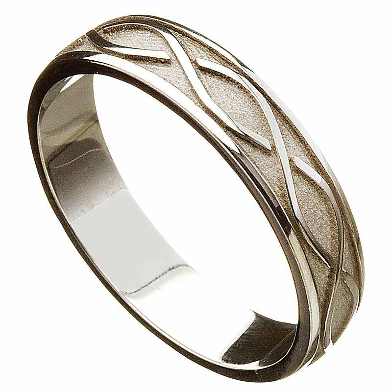 Irish Wedding Ring Celtic Twist Mens Wedding Band At