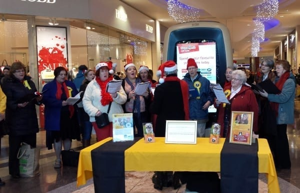 Carol Singing, Dundrum Town Centre, December 2013