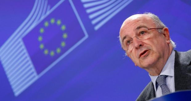 European Union competition commissioner Joaquin Almunia addresses a news conference at the EU Commission headquarters in Brussels. Photograph: Yves Herman/Reuters