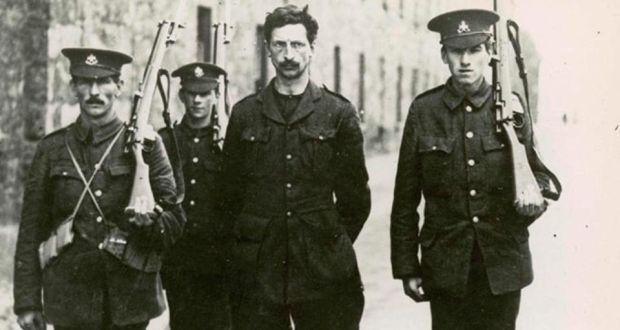 Eamon de Valera under arrest in Richmond Barracks after the 1916 Rising. De Valera was in command in Boland's Mills