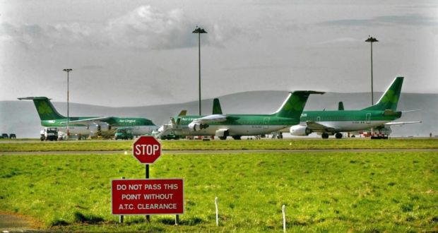 The latest proposal for resolving the Aer Lingus pension dispute involves a contribution of €191 million from the airline and €73 million from the Dublin Airport Authority  to a new fund that will replace the Irish Aviation Superannuation Scheme. Photograph: Matt Kavanagh