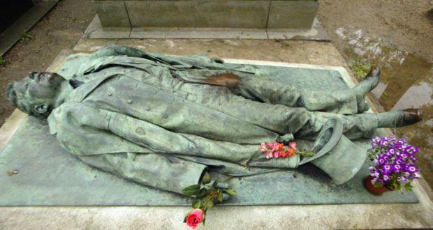Grave of French journalist Victor Noir (1848-1870)  at Père Lachaise Cemetery in Paris. Photograph: Joel Saget/AFP/Getty Images