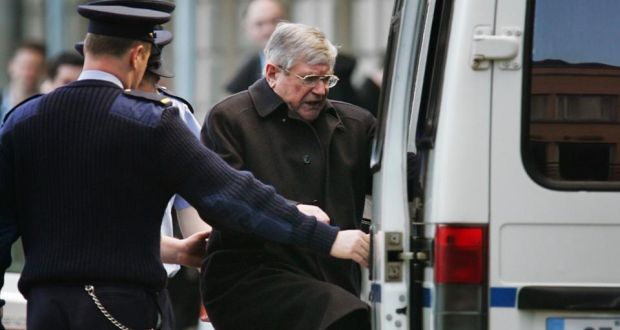 Former minister for justice Ray Burke on his way to jail in 2005: even he lamented (in public, at least) the Fraud Squad's inability to conduct an effective investigation.. Photograph: Frank Miller