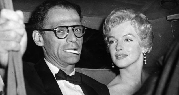 Playwright Arthur Miller with wife Marilyn Monroe. File photograph: Keystone/Getty Images