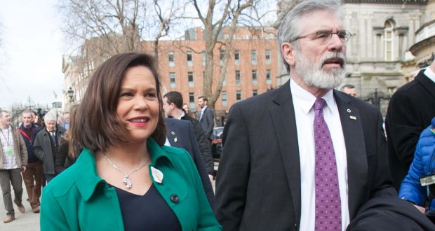 Gerry Adams was due to attend the annual White House event, hosted by President Barack Obama, with party deputy leader Mary Lou McDonald and NI Deputy First Minister Martin McGuinness. Photograph: Gareth Chaney/Collins
