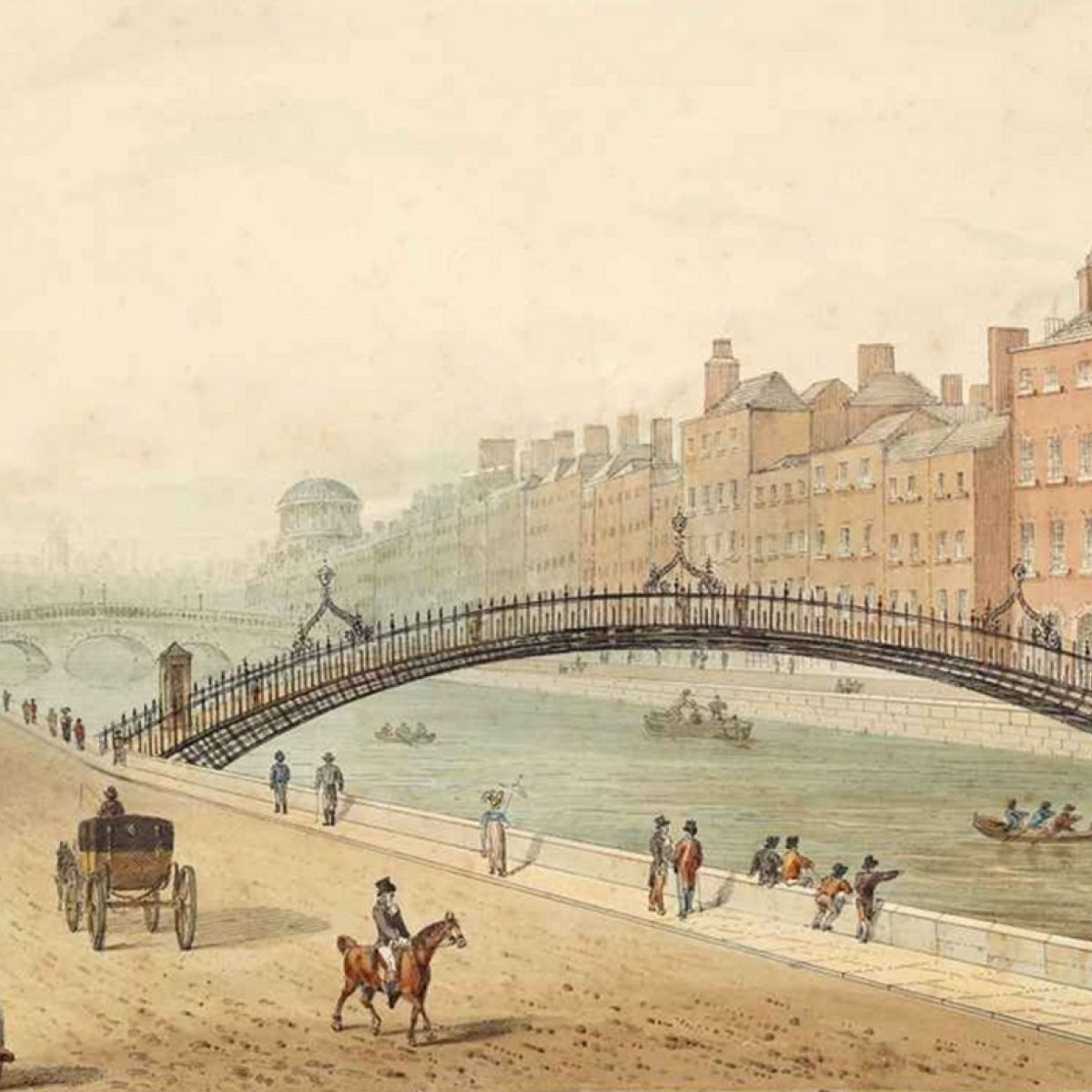 Image result for ha'penny bridge history
