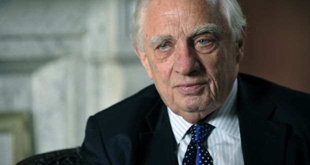 Peter Sutherland: 'I am absolutely mystified about what is coming out of London.' Photograph: Aidan Crawley