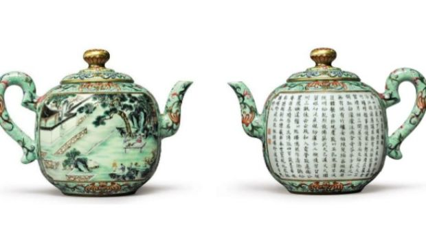 A  Qianlong Dynasty porcelain teapot sold this week by Sotheby's of New York for $3.5 million, which was coveted by over 10 bidders, is one of only two known and is an ode to Emperor Qianlong's adoration of tea.