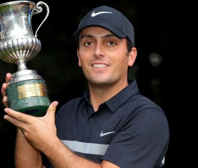 Francesco Molinari Of Italy Celebrates With The Trophy After Winning The Italian Open At Golf Club
