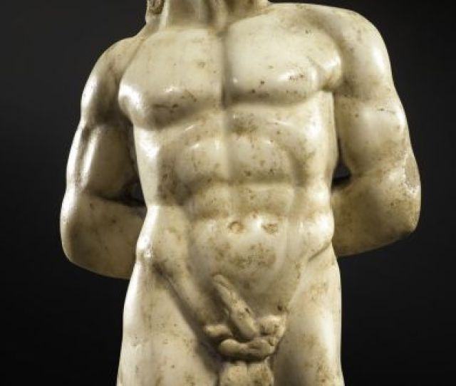 A Roman Marble Torso Of Pan Made In The 2nd Century Ad