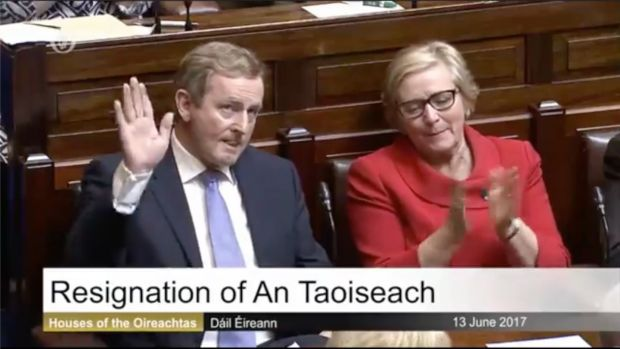 Image result for Enda Kenny steps down as Taoiseach after forty two years in politics
