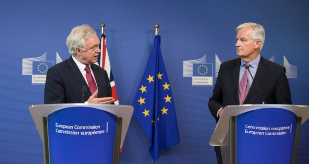Image result for Michel Barnier and david davis photos