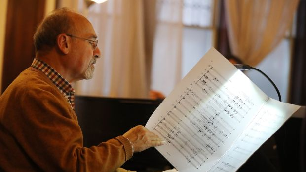 Italian composer Salvatore Sciarrino gives the impression of re-drawing time. Photograph: Steve Russell/Toronto Star via Getty Images
