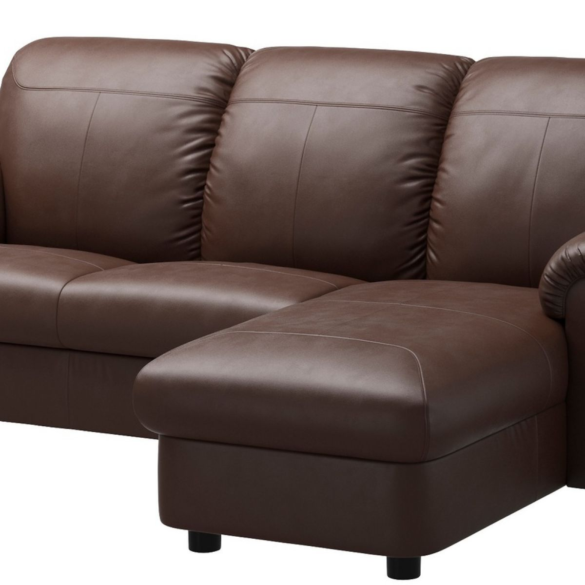 dark brown fake leather couch