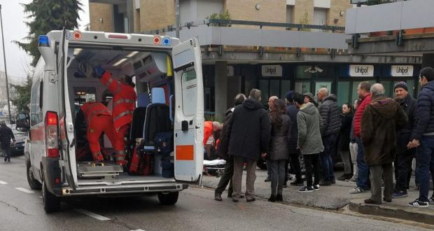 Image result for African migrants injured in Italy drive-by shooting