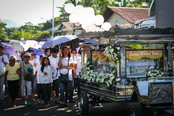 Jastine Valdez funeral held in Philippines weeks after murder