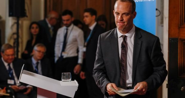 Dominic Raab, the British Brexit secretary, is still confident that a deal can be reached with the EU. Photograph: EPA/Luke MacGregor / POOL