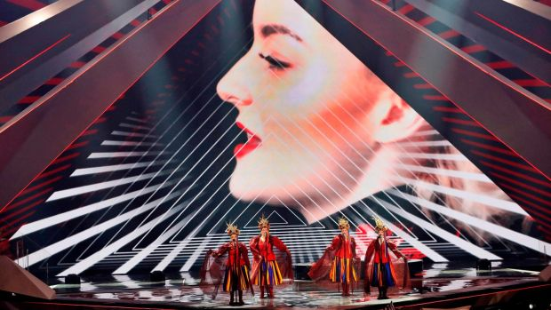 Poland's Tulia perform the song Fire of Love (Pali si?) during the first semi-final of the 64th edition of the Eurovision Song Contest 2019 at Expo Tel Aviv on May 14, 2019, in the Israeli coastal city. (Photo by Jack GUEZ / AFP)JACK GUEZ/AFP/Getty Images