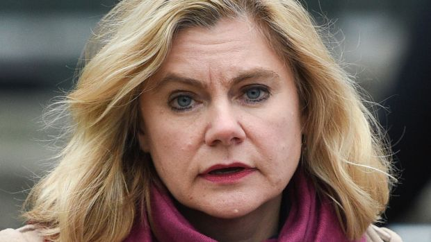Conservative MP Justine Greening said on Tuesday that she will stand down at the next election. Photograph: AFP