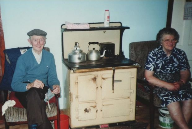 Austy Bob O Malley lived his long life in the village of Glen, on the Isle of Clare, Co Mayo, with his wife Katie Ann, who was the girl next door.